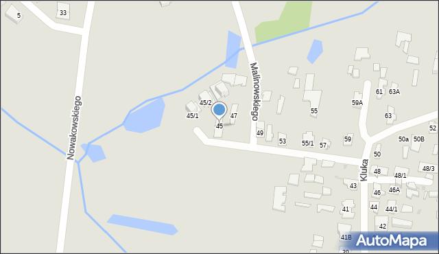 Białystok, Kluka Jana Krzysztofa, 45, mapa Białegostoku