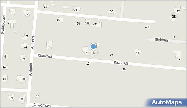 Chełm, Klonowa, 7A, mapa Chełma
