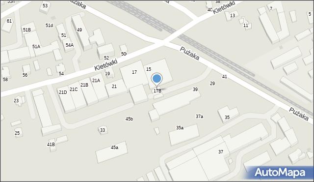 Krosno, Kletówki, 17B, mapa Krosna