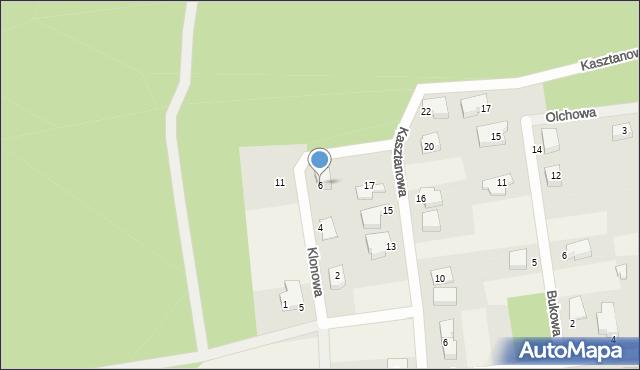 Luzino, Klonowa, 6, mapa Luzino