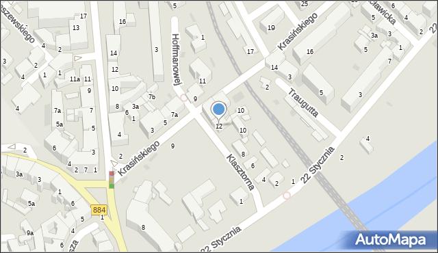 Przemyśl, Klasztorna, 12, mapa Przemyśla