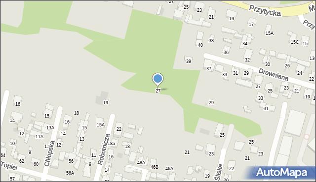 Radom, Klonowa, 27, mapa Radomia