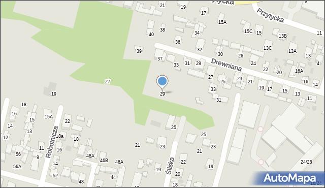 Radom, Klonowa, 29, mapa Radomia