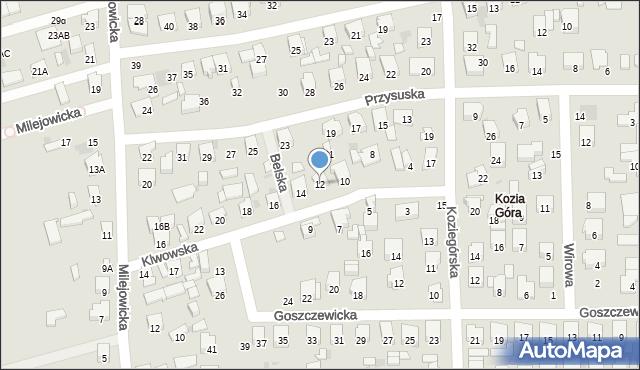 Radom, Klwowska, 12, mapa Radomia