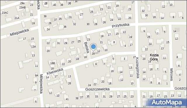 Radom, Klwowska, 14, mapa Radomia