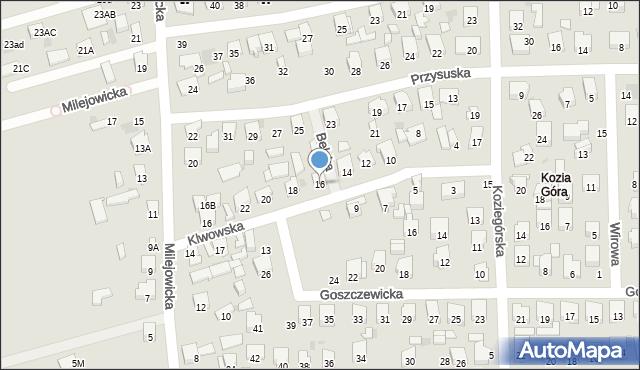 Radom, Klwowska, 16, mapa Radomia