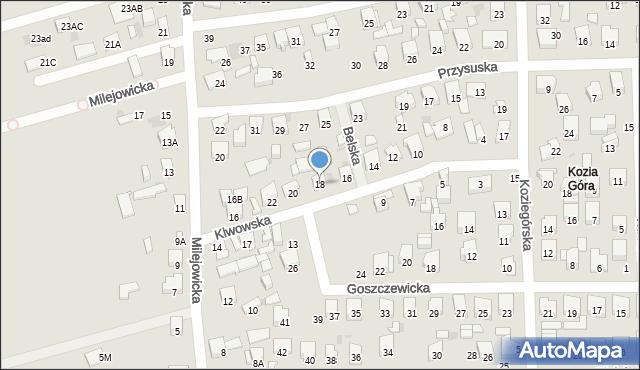 Radom, Klwowska, 18, mapa Radomia