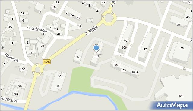 Ruda Śląska, Kłodnicka, 103, mapa Rudy Śląskiej