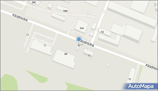 Ruda Śląska, Kłodnicka, 61, mapa Rudy Śląskiej