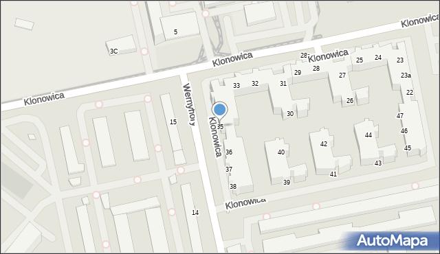 Szczecin, Klonowica Sebastiana, 35, mapa Szczecina