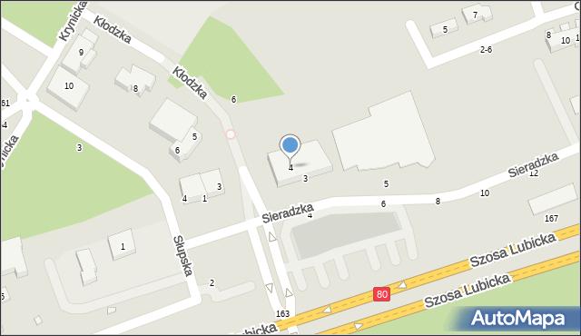 Toruń, Kłodzka, 4, mapa Torunia