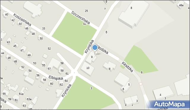 Toruń, Kłodzka, 7, mapa Torunia