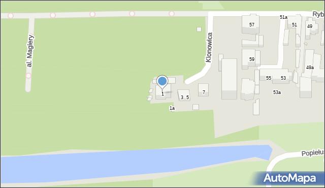 Toruń, Klonowica Sebastiana, 1, mapa Torunia