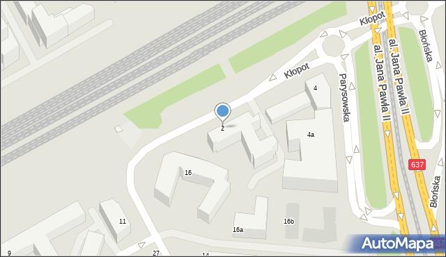 Warszawa, Kłopot, 2, mapa Warszawy