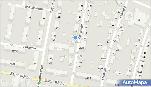 Warszawa, Kleczewska, 37, mapa Warszawy