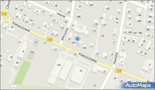 Warszawa, Kleszczowa, 15B, mapa Warszawy