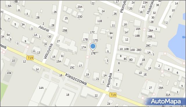 Warszawa, Kleszczowa, 17E, mapa Warszawy