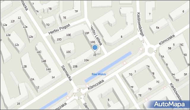 Warszawa, Klimczaka Franciszka, 10, mapa Warszawy