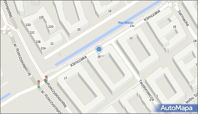 Warszawa, Klimczaka Franciszka, 15, mapa Warszawy