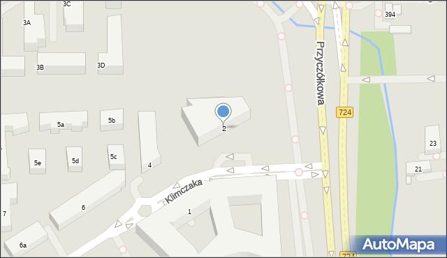 Warszawa, Klimczaka Franciszka, 2, mapa Warszawy