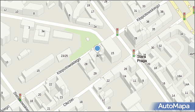 Warszawa, Kłopotowskiego Ignacego, ks., 30, mapa Warszawy