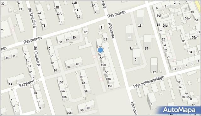 Zabrze, Klonowa, 15A, mapa Zabrza