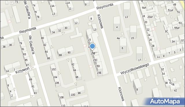 Zabrze, Klonowa, 15B, mapa Zabrza