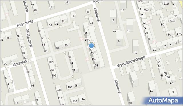 Zabrze, Klonowa, 15C, mapa Zabrza