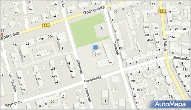 Zabrze, Klonowa, 2, mapa Zabrza