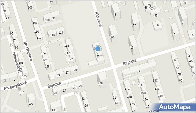Zabrze, Klonowa, 23, mapa Zabrza