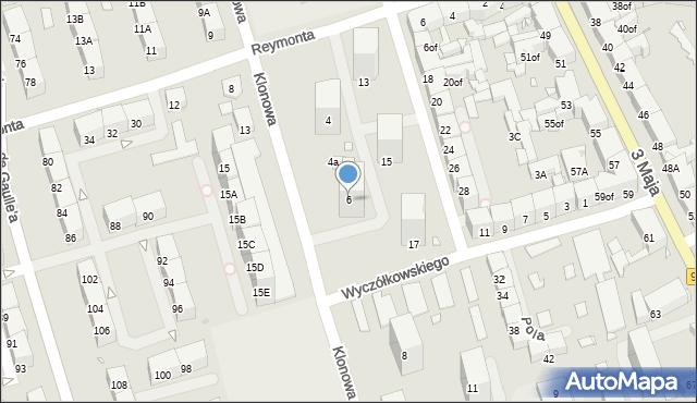 Zabrze, Klonowa, 6, mapa Zabrza