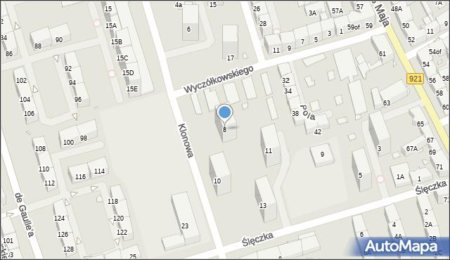 Zabrze, Klonowa, 8, mapa Zabrza