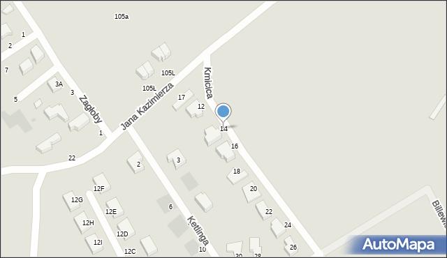 Gdynia, Kmicica Andrzeja, 14, mapa Gdyni