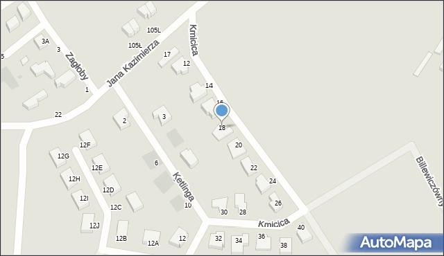 Gdynia, Kmicica Andrzeja, 18, mapa Gdyni