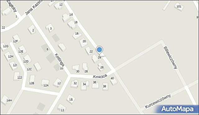 Gdynia, Kmicica Andrzeja, 24, mapa Gdyni
