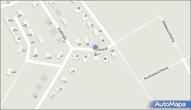Gdynia, Kmicica Andrzeja, 36, mapa Gdyni