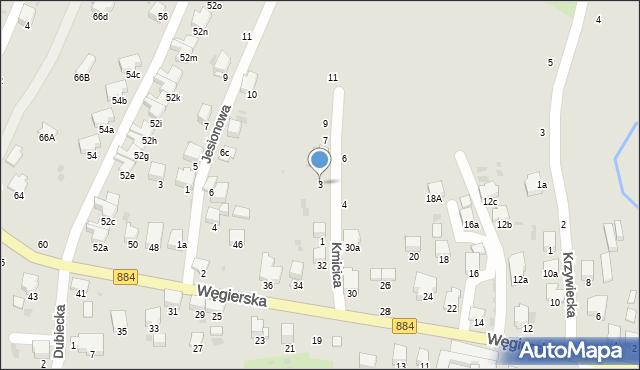 Przemyśl, Kmicica Andrzeja, 3, mapa Przemyśla