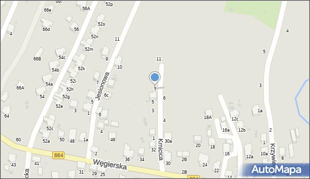 Przemyśl, Kmicica Andrzeja, 7, mapa Przemyśla
