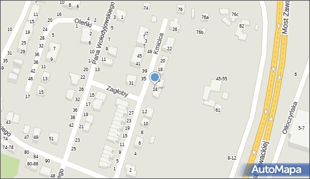 Toruń, Kmicica Andrzeja, 14, mapa Torunia