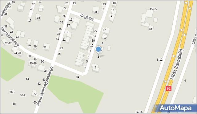 Toruń, Kmicica Andrzeja, 4, mapa Torunia