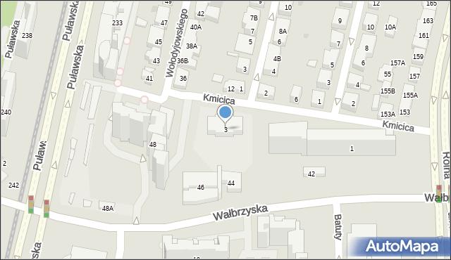 Warszawa, Kmicica Andrzeja, 3, mapa Warszawy