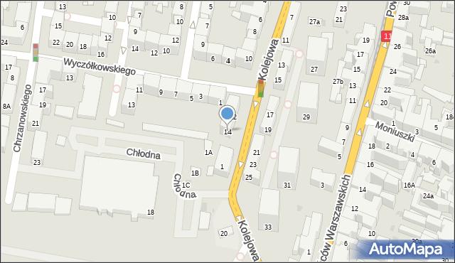 Bytom, Kolejowa, 14, mapa Bytomia