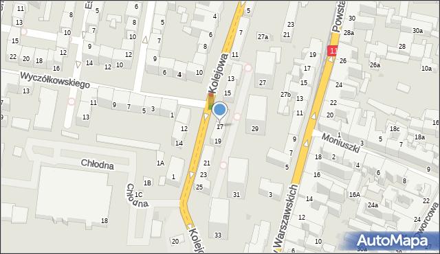 Bytom, Kolejowa, 17, mapa Bytomia