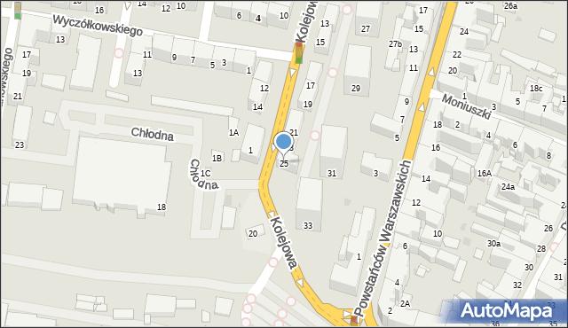 Bytom, Kolejowa, 25, mapa Bytomia