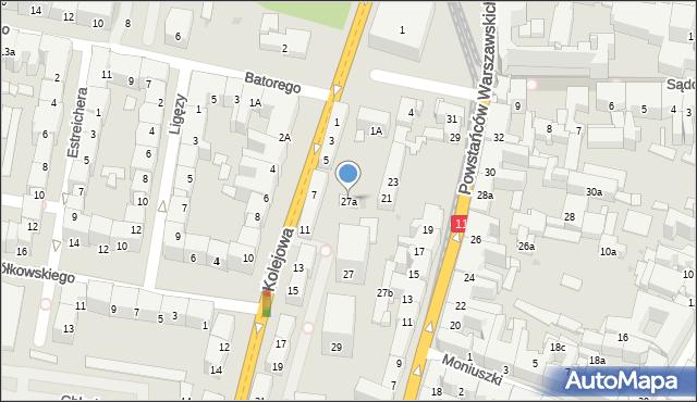 Bytom, Kolejowa, 27a, mapa Bytomia