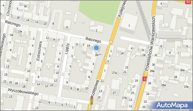 Bytom, Kolejowa, 2A, mapa Bytomia