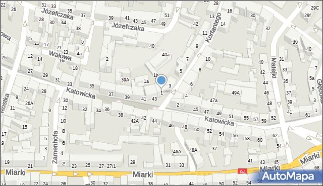 Bytom, Korfantego Wojciecha, 1, mapa Bytomia
