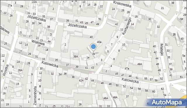 Bytom, Korfantego Wojciecha, 1b, mapa Bytomia