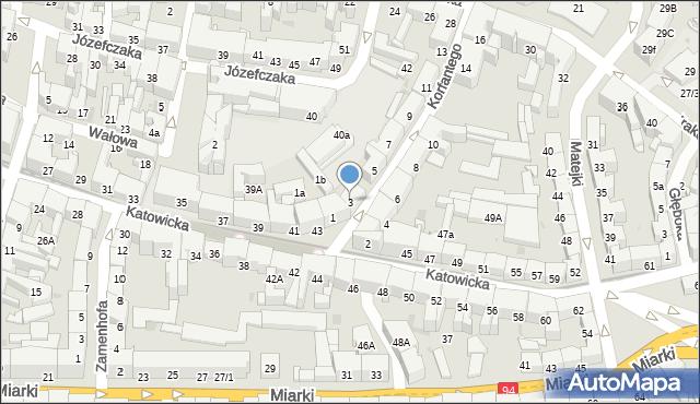 Bytom, Korfantego Wojciecha, 3, mapa Bytomia