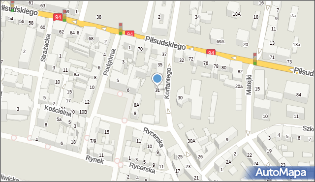Bytom, Korfantego Wojciecha, 31, mapa Bytomia